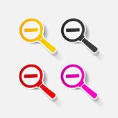 Realistic design element: magnifier — Stock Vector