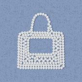 Pills concept: bag, fashion — Stock Vector