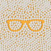 Pills concept: glasses — Stock Vector
