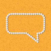 Pills concept: speech, bubble, cloud — Stock Vector