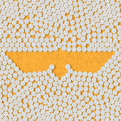 Pills concept: wing, feather, bird — Stock Vector