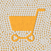 Pills concept: shopping, trolley — Stock Vector