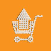 Pills concept: shopping, trolley, arrow — Stock Vector