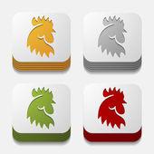 App concept: cock, bird, agriculture — Stock Vector