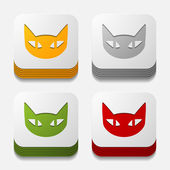 App concept: cat — Stockvektor