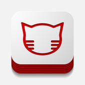 App concept: cat — Stock vektor
