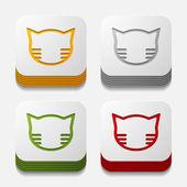 App concept: cat — Stock Vector