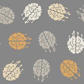 Seamless background: brain, melting, melts — Stock Vector