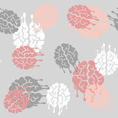 Seamless background: brain, melting, melts — Vector de stock