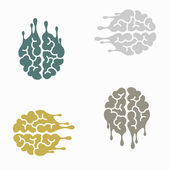 Seamless background: brain, melting, melts — Stock Vector