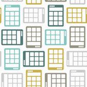 Bezszwowe tło: elektroniczny kalkulator — Wektor stockowy