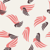 Seamless background: wing, feather, angel — Wektor stockowy
