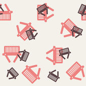 Seamless background: shopping, basket — 图库矢量图片