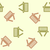 Seamless background: shopping, basket — Vector de stock