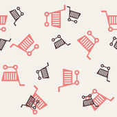 Seamless background: shopping, trolley — Vetorial Stock