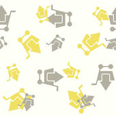 Seamless background: shopping, trolley, arrow — Vector de stock