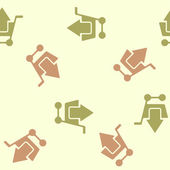 Seamless background: shopping, trolley, arrow — Stock Vector