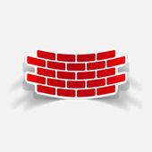 Realistic design element: brick, construction — Stock Vector