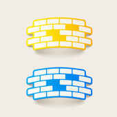 Realistic design element: brick, construction — Vector de stock