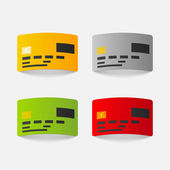 Realistic design element: credit, card — Stock Vector