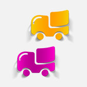 Realistic design element: car, delivery — Stock Vector