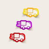 Realistic design element: car, delivery — Wektor stockowy