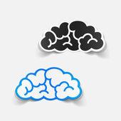 Realistic design element: cloud — Stock Vector