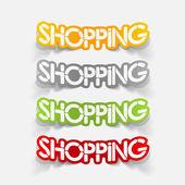 Realistic design element: shopping — Stockvektor