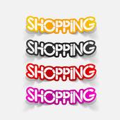 Realistic design element: shopping — Vettoriale Stock