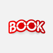 Realistic design element: book — Stock vektor