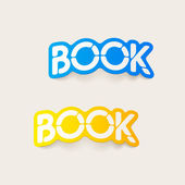 Realistic design element: book — Stock Vector