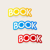 Realistic design element: book — Vector de stock