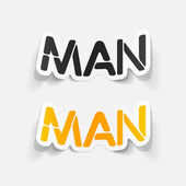 Realistic design element: man — Stockvektor