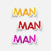 Realistic design element: man — Stock Vector