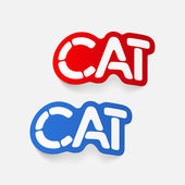 Realistic design element: cat — Stock Vector