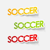 Realistic design element: soccer — Stockvektor