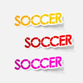 Realistic design element: soccer — Stock Vector