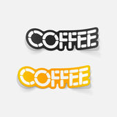 Realistic design element: coffee — Vector de stock