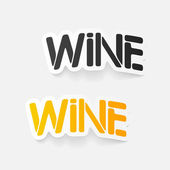 Realistic design element: wine — Stock Vector