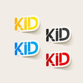 Realistic design element: kid — Vettoriale Stock