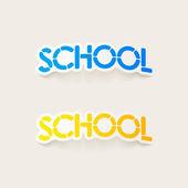 Elemento de diseño realista: escuela — Vector de stock