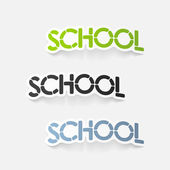 Realistic design element: school — Stock Vector