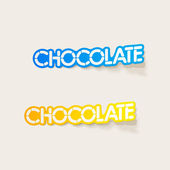 Realistic design element: chocolate — Stock Vector