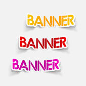 Realistic design element: banner — Vector de stock