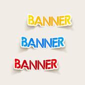 Realistic design element: banner — Stock Vector