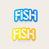 Realistic design element: fish — Stock Vector