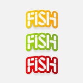 Realistic design element: fish — Vetorial Stock
