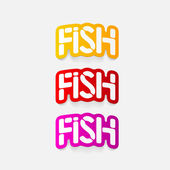 Realistic design element: fish — Vettoriale Stock