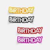 Realistic design element: birthday — Stock Vector