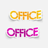 Realistic design element: office — Stock Vector